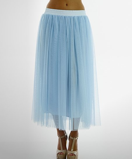 071bd2789c398 Melody Apparel Baby Blue Chiffon Layered Maxi Skirt | Zulily