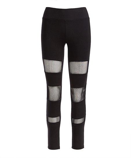 93c5bd7e423d4 love this product Black Mesh-Stripe Leggings - Women & Juniors
