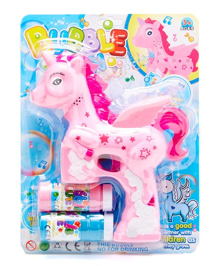 Barry Owen Pink Unicorn Bubble Gun
