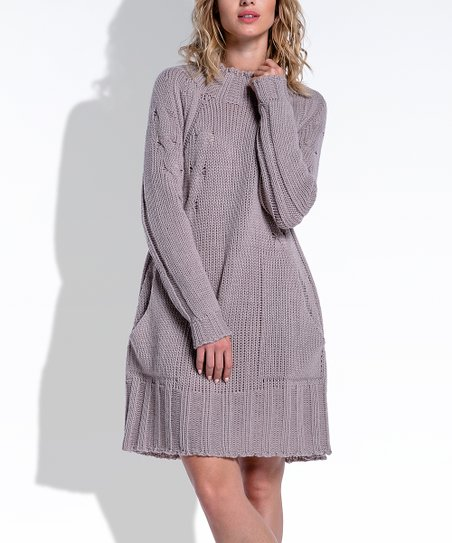 e176f1a0d84e love this product Mocca Mock-Neck Sweater Dress - Women