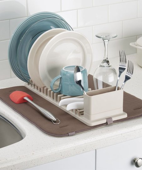 InterDesign Clarity Compact Dish Drainer   Drying Mat  637a59ccfb