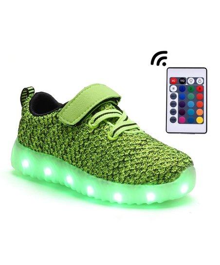 5a03f233573 Dream Seek Green Light-Up Sneaker - Kids   Zulily