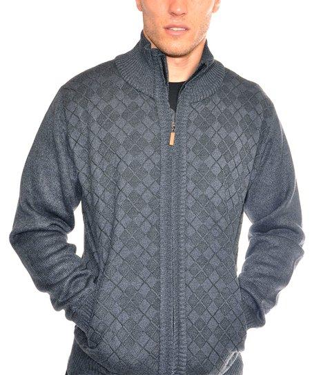 2ecc36747234 US Icon Blue Argyle Zip-Up Sweater