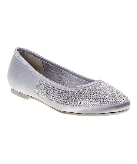 9578a79c958c7 Kensie Girl Silver Rhinestone Ballerina Flat - Girls
