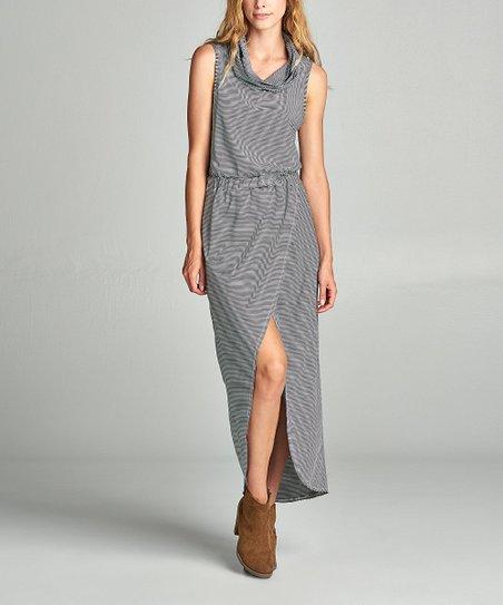 dce2ca2802 Love, Kuza Black & White Stripe Sleeveless Maxi Dress   Zulily