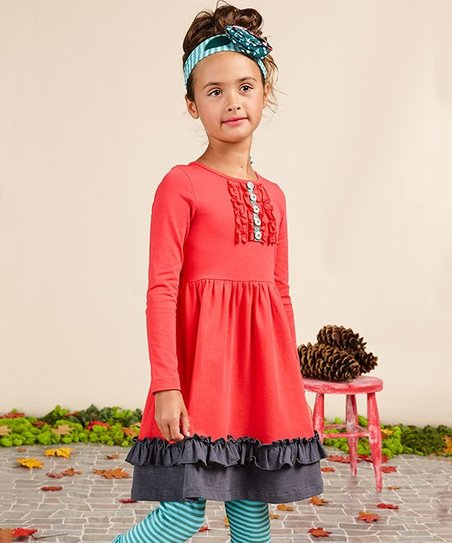 51845b89168 Matilda Jane Clothing Red   Black Little Red Riding Dress - Girls ...