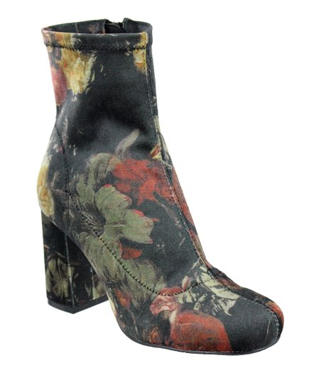 d4cdee5b9df MIA Shoes Black Multi Floral Valencia Boot - Women