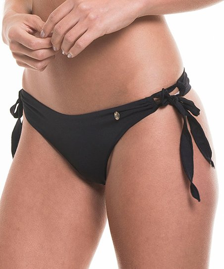 2f1dc496a54 Garotas Black Side-Tie Brazilian Bikini Bottoms | Zulily