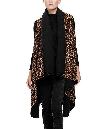 Leopard Draping Vest