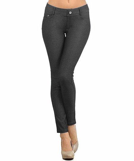 522f4f248fc694 SBS Basics Black Five-Pocket Jeggings - Women & Plus | Zulily