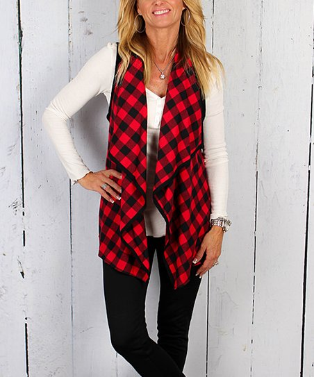 9f3576b8679 love this product Red   Black Buffalo Plaid Vest