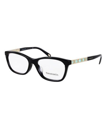bf90f66c1168 Tiffany   Co. Black   Gold Roman Numeral Square Eyeglasses