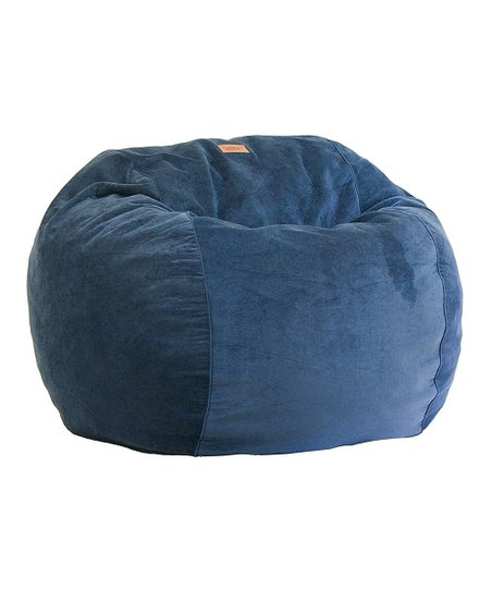 Cordaroys Navy Plush Velour Convertible Bean Bag Chair Sleeper Zulily