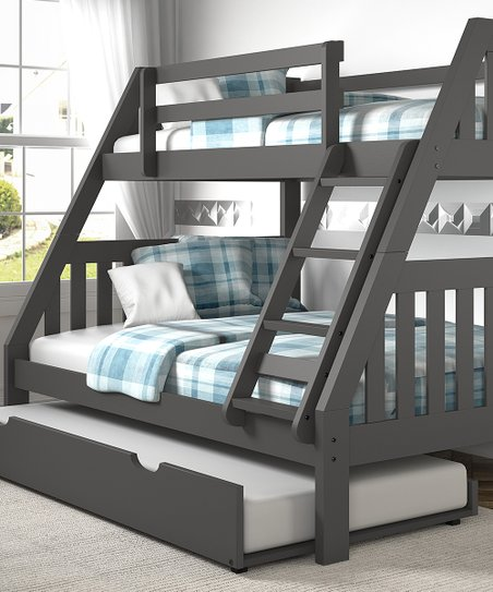 Donco Kids Dark Gray Mission Twin Full Bunk Bed Trundle Zulily