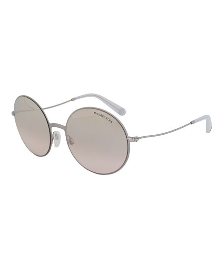 98500bf268fe9 Michael Kors Brushed Silver   Brown Gradient Kendall ll Mirror Round ...