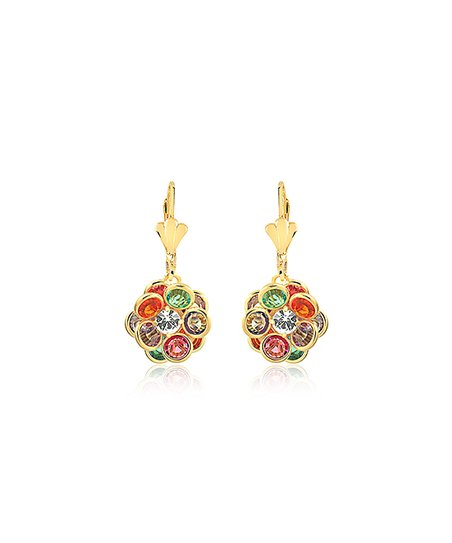 b843940c3 love this product Red & 18k Gold-Plated Orb Drop Earrings With Swarovski®  Crystals