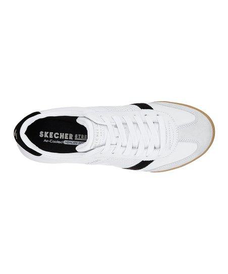 Skechers White & Black Zinger Retro Rockers Leather Sneaker