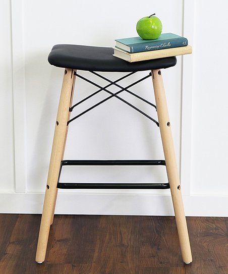 Superb Walker Edison Black Retro Modern Stool Zulily Ocoug Best Dining Table And Chair Ideas Images Ocougorg