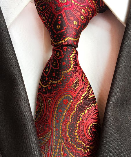5a0f9fb0eb66 love this product Red & Gold Paisley Silk Sanford Tie