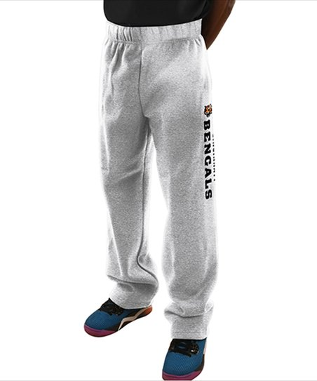 Majestic Athletic Cincinnati Bengals Heather Gray Fleece Pants - Men ... 4f2e0cdb35