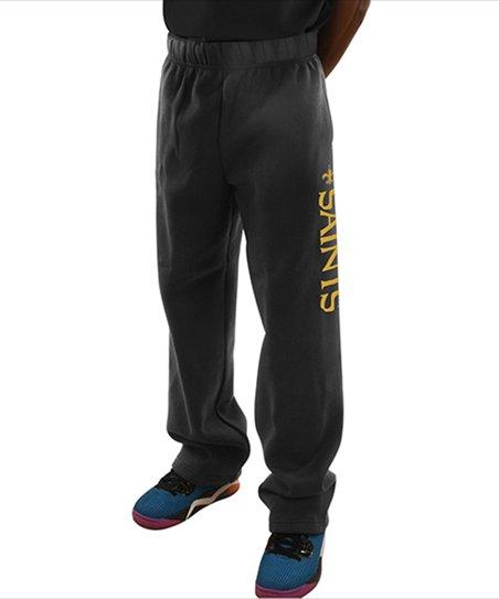 new style bc57b f5090 Majestic Athletic New Orleans Saints Black Fleece Pants - Men, Big & Tall