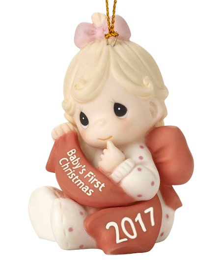 precious moments babys first christmas 2017 girl ornament zulily