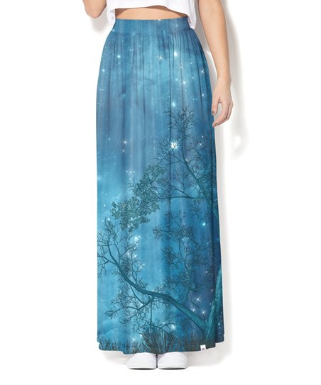 0243b5113168 Colour Pleasure Blue Cosmic Maxi Skirt