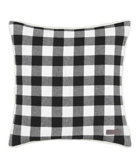 Eddie Bauer® Black & White Cabin Plaid Flannel Throw Pillow