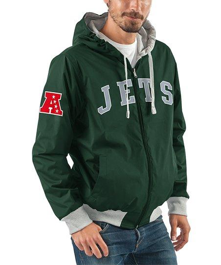 new concept d8efc 170f0 Green New York Jets Zip-Up Hoodie - Men