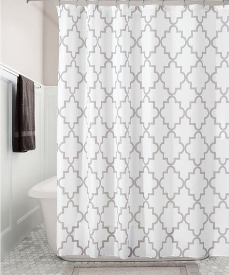 Love This Product Stone White Moroccan Trellis Shower Curtain