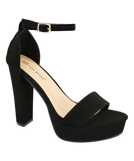 TOP MODA Black Ankle-Strap Thomas