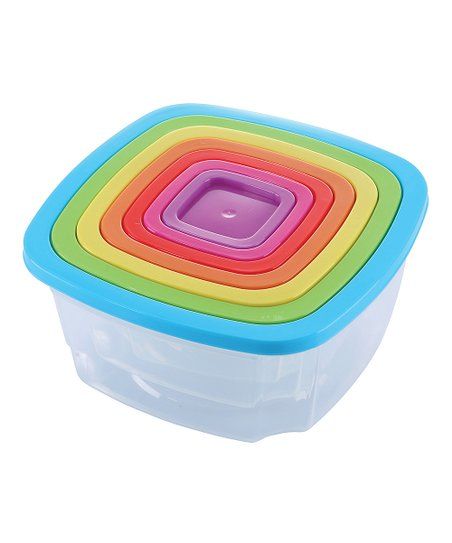 Diamond Home Rainbow Seven Piece Nesting Food Storage Containers Set