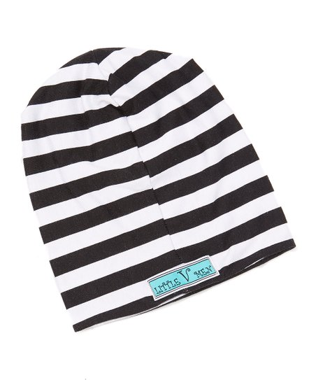 love this product Black   White Stripe Beanie - Infant 1d0c636fbb4
