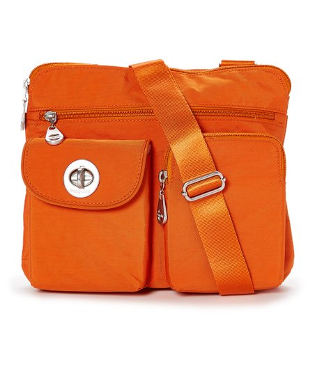 88608e3a11 baggallini Burnt Orange Sydney Silver Crossbody Bag