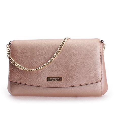 4c1ab05a6442 Kate Spade Rose Gold Greer Laureal Way Leather Crossbody Bag Zulily. Lyst  Kate Spade Cedar Street Metallic ...