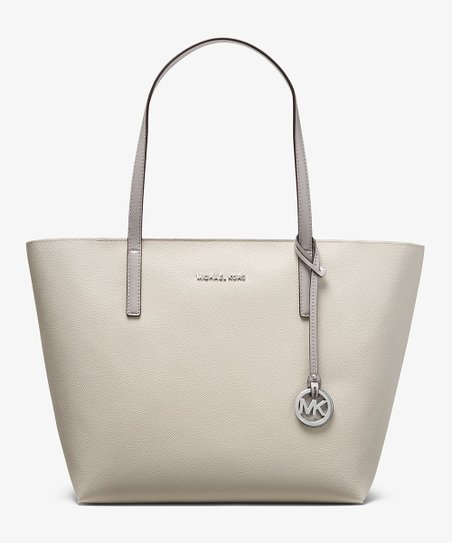 62f62b980f03 Michael Kors Pearl Gray & Cement Hayley Coated Canvas Tote | Zulily