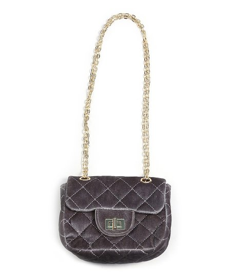 d2269dcf45 Do Everything In Love Gray   Gold Quilted Crossbody Bag