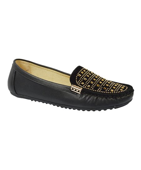 470a030bff2 love this product Black   Gold Moccasin Loafer - Women