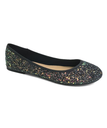 c929f20782fe Bamboo Black Glitter Embrace Flat - Women | Zulily