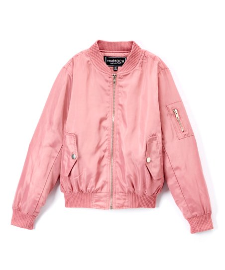 Minimoca Rose Faux Fur Lined Bomber Jacket Girls Zulily