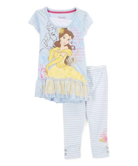 e8a809f2bd79f Childrens Apparel Network Disney Princess Belle Lace Tunic & Stripe ...