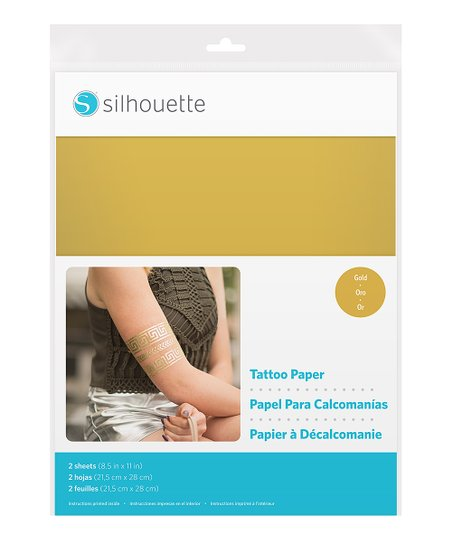 picture about Printable Temporary Tattoo Paper identify Silhouette Gold Printable Short term Tattoo Paper Preset