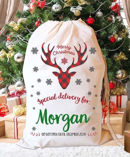 3c41c1337de LMT Creative Merry Christmas Plaid Reindeer V Personalized Santa ...