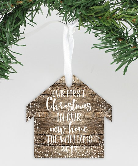 Stamp Out Online Rustic First Christmas In Our New Home Personalized Ornament