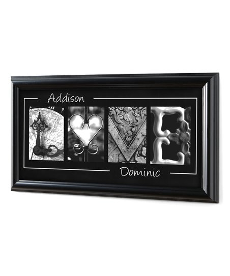 Personal Creations Black Love Personalized Framed Wall Art