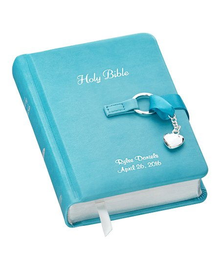 Personal Creations Blue Personalized Children's Bible