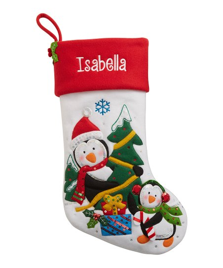 1c31f252923 Personal Creations Penguin Holiday Sparkle Personalized Stocking ...