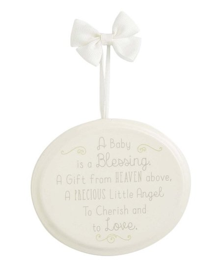 Enesco White Oval A Baby Is A Blessing Wall Plaque Zulily