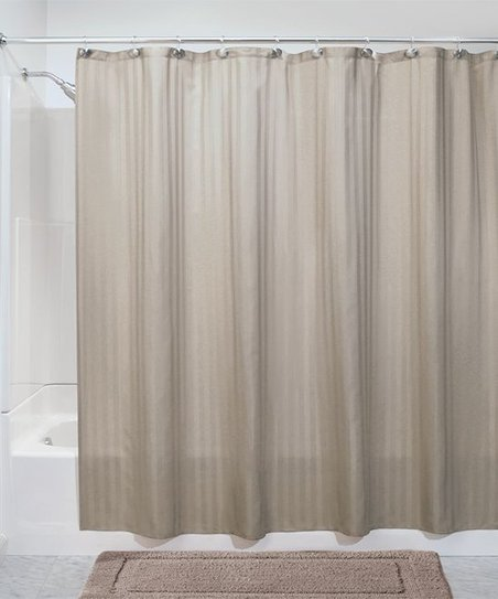 Love This Product Taupe Satin Stripe Shower Curtain Liner