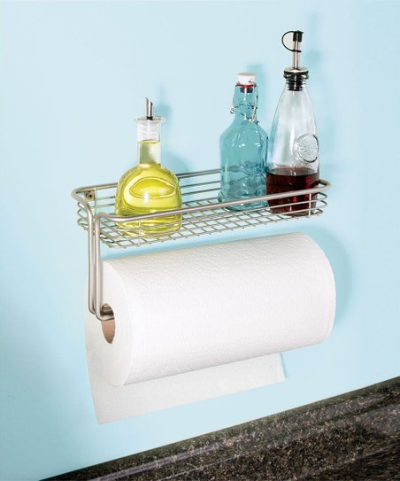 Idesign Classico Wall Mount Paper Towel Holder Shelf Zulily
